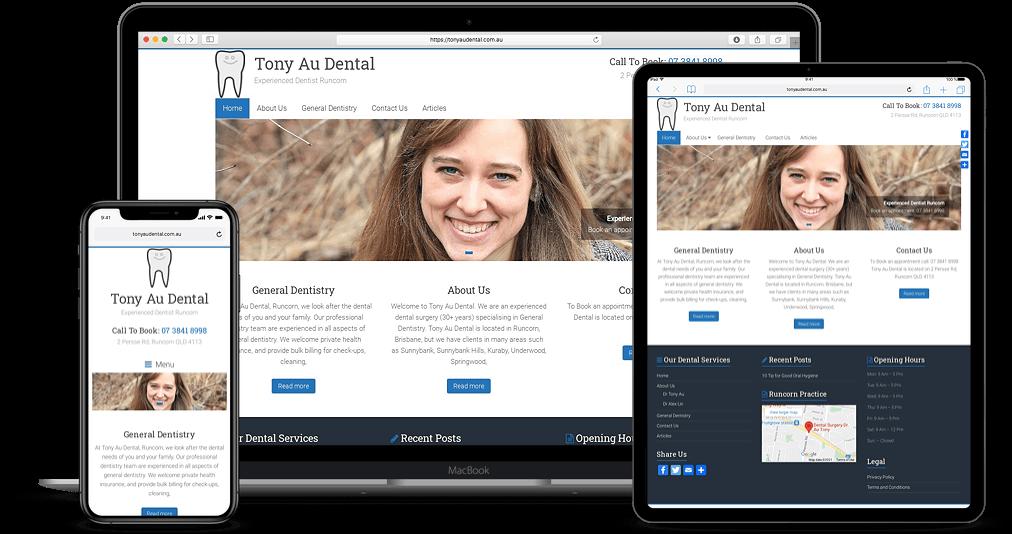 Dentist Website Design Brisbane